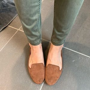 Mossimo size 7.5 flats rust suede